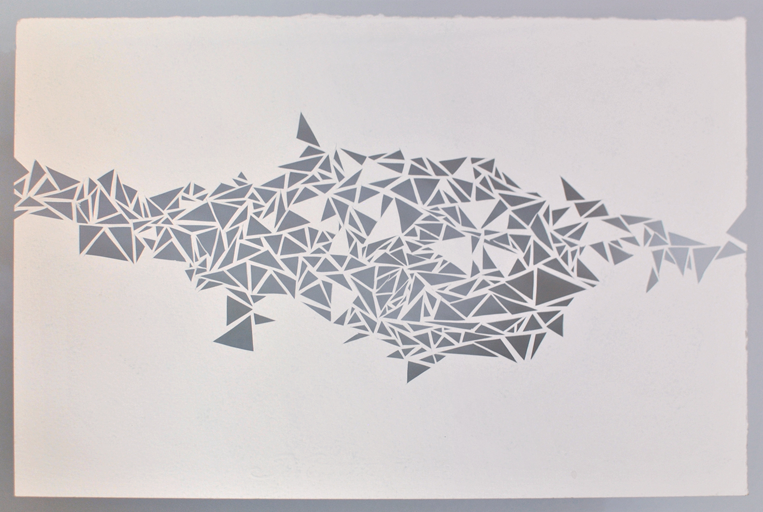 Lightweb - Papercut from Canson paper - 24x32cm